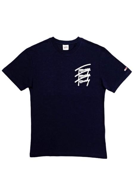 Camiseta Manga Corta Hombre Tommy Hilfiger Repeat Script Tee AZUL MARINO